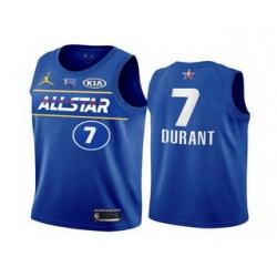 Men 2021 All Star 7 Kevin Durant Blue Eastern Conference Stitched NBA Jersey