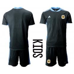 Kids Argentina Short Soccer Jerseys 001