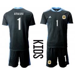 Kids Argentina Short Soccer Jerseys 002