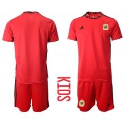 Kids Argentina Short Soccer Jerseys 005