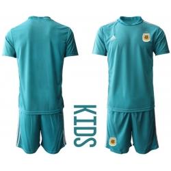 Kids Argentina Short Soccer Jerseys 007