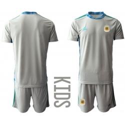 Kids Argentina Short Soccer Jerseys 009