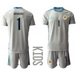 Kids Argentina Short Soccer Jerseys 010