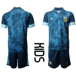 Kids Argentina Short Soccer Jerseys 011