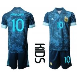 Kids Argentina Short Soccer Jerseys 014