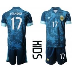 Kids Argentina Short Soccer Jerseys 017