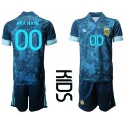 Kids Argentina Short Soccer Jerseys 018