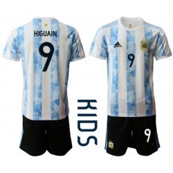 Kids Argentina Short Soccer Jerseys 026