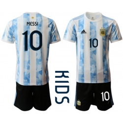 Kids Argentina Short Soccer Jerseys 028