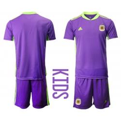Kids Argentina Short Soccer Jerseys 035
