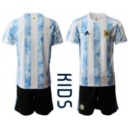 Kids Argentina Short Soccer Jerseys 037