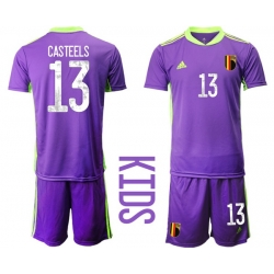 Kids Belgium Short Soccer Jerseys 027