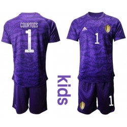 Kids Belgium Short Soccer Jerseys 028
