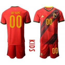 Kids Belgium Short Soccer Jerseys 030