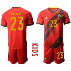 Kids Belgium Short Soccer Jerseys 031