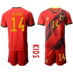 Kids Belgium Short Soccer Jerseys 032