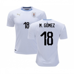 Uruguay #18 M.Gomez Away Soccer Country Jersey