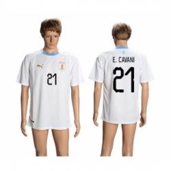 Uruguay #21 E.Cavani Away Soccer Country Jersey