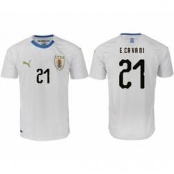 Uruguay #21 E.Cavani Home Soccer Country Jersey