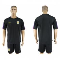 Uruguay Blank Black Goalkeeper Soccer Country Jersey