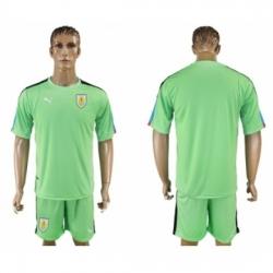 Uruguay Blank Green Goalkeeper Soccer Country Jersey