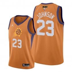 suns cameron johnson orange 2021 western conference champions jersey