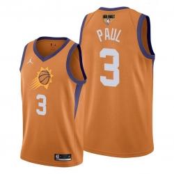 suns chris paul orange 2021 western conference champions jersey