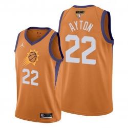 suns deandre ayton orange 2021 western conference champions jersey