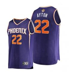 suns deandre ayton purple 2021 nba finals bound replica jersey