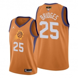 suns mikal bridges orange 2021 western conference champions jersey