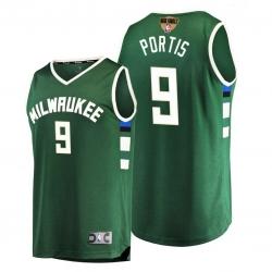 bucks bobby portis green 2021 nba finals bound replica jersey