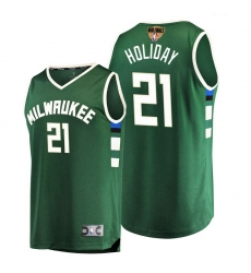 bucks jrue holiday green 2021 nba finals bound replica jersey