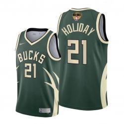 bucks jrue holiday green 2021 nba playoffs jersey