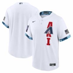 Men's Arizona Diamondbacks Blank Nike White 2021 MLB All-Star Game Replica Jersey