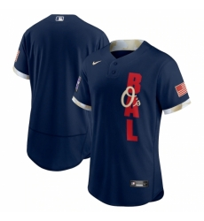 Men's Baltimore Orioles Blank Nike Navy 2021 MLB All-Star Game Authentic Jersey