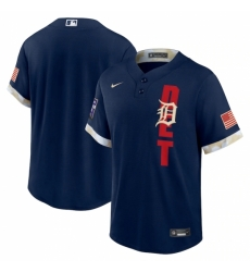 Men's Detroit Tigers Blank Nike Navy 2021 MLB All-Star Game Replica Jersey