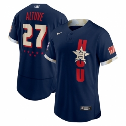 Men's Houston Astros #27 José Altuve Nike Navy 2021 MLB All-Star Game Authentic Player Jersey
