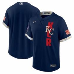 Men's Kansas City Royals Blank Nike Navy 2021 MLB All-Star Game Replica Jersey