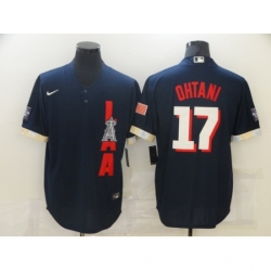 Men's Los Angeles Angels of Anaheim #17 Shohei Ohtani Navy 2021 All-Star Game Authentic Jersey