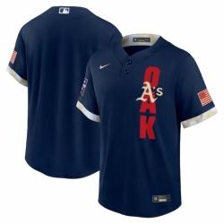 Men's Oakland Athletics Blank Nike Navy 2021 MLB All-Star Game Replica Jersey