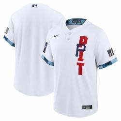 Men's Pittsburgh Pirates Blank Nike White 2021 MLB All-Star Game Replica Jersey