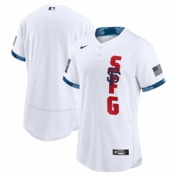 Men's San Francisco Giants Blank Nike White 2021 MLB All-Star Game Authentic Jersey