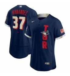 Men's Toronto Blue Jays #37 Teoscar Hernández Nike Navy 2021 MLB All-Star Game Authentic Player Jersey