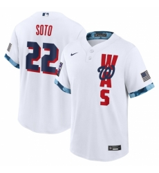 Men's Washington Nationals #22 Juan Soto Nike White 2021 MLB All-Star Game Replica Player Jersey