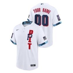 Men Pittsburgh Pirates Custom #00 White 2021 MLB All-Star Game Jersey
