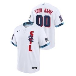 Men St. Louis Cardinals Custom #00 White 2021 MLB All-Star Game Jersey