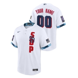 Men's San Diego Padres Custom #00 White 2021 MLB All-Star Game Jersey
