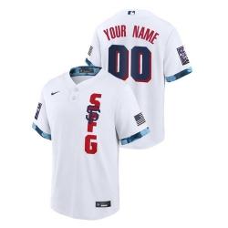 Men's San Francisco Giants Custom White 2021 MLB All-Star Game Jersey