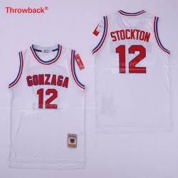 John Stockton Jersey 12 GONZAGA BULLDOGS College ncaa
