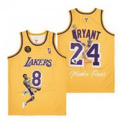 Kobe Bryant Lakers Throwback Jersey 8 24 4
